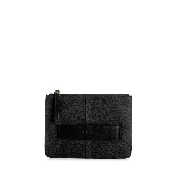 Dust Animal skinn clutch, svart